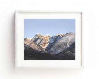 "landscape photography wall art, mountain landscape wall art, large art, large wall art, large landscape prints - ""Sunset on the Absarokas"""