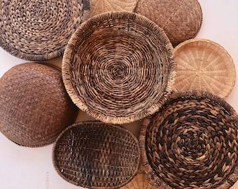 Vintage Collection of Baskets & Trivets • Set of 9