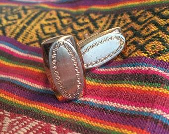 Vintage Hickok Cuff Links / Roman Key Cuff Links