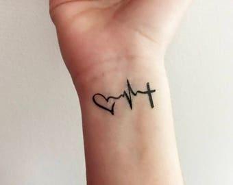 Love Hope Faith - Temporary Tattoo