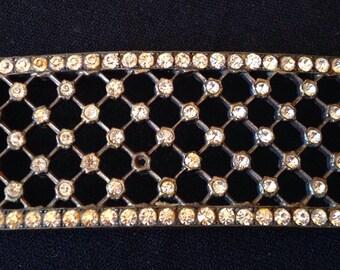 Beautiful element of 30s rhinestones belt buckle