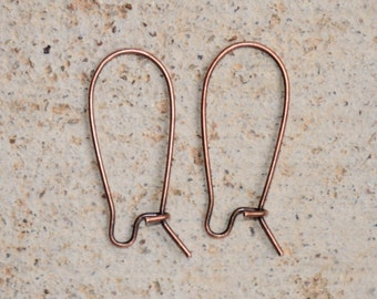 Antique Copper Nunn Designs Kidney Earwires 11 x 25.4mm Pick Your Own Bulk Price