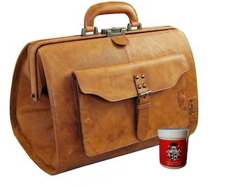 Doctor's bag ROOSEVELT made of brown Rodeo leather - BARON of MALTZAHN