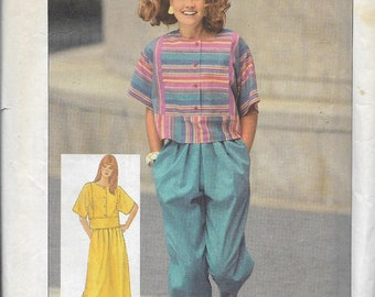 Simplicity 7322 Misses Easy-To-Sew Cropped Pants, Pleated Skirt And Pullover Cropped Top Pattern, Size 12, UNCUT