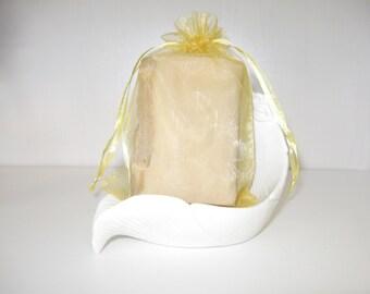 Frankincense Myrrh Soap with gold mica