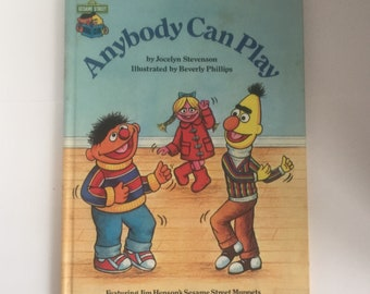 "Vintage Sesame Street Book Club ""Anybody Can Play"" from the 1980s with Burt and Ernie, Sesame Street Books"