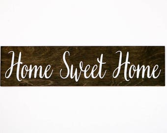 Home Sweet Home Wood Sign, Home Sign, Home Decor, Wood Signs, Sign, Gift, Housewarming, Christmas Gift, Home Sweet Home, Rustic Home Sign