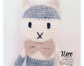KITTEN CROCHET PATTERN,Crochet Pattern,Kittyy,Eastern,Handmade,Crochet, Pattern,Crochet Gift,Crochet Doll, Amigurumi Doll, Kitty Lola