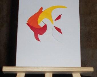 Fish in iris folding card