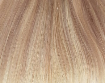 Balayage clip in hairextensions  ashblonde to light blonde (#18/22/60) - 20inch / 50cm