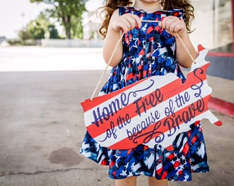 Independance day outfit- 4th of july dress- holiday dress- red white and blue dress- scoop back dress- americana- USA-Flag-denim-fireworks