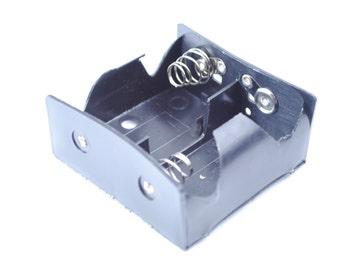 Proops D tipo x 2 batería titular negro con batería Conector rápido 70 x 70 x 34 mm. (E3300) Reino Unido libre franqueo