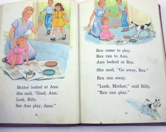 Fun with Us Vintage 1940s or 1950s Children's School Reader or Textbook by Lyons and Carnahan