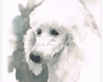 Poodle art print, Poodle art, Poodle print, Poodle gift, Poodle wall art, Poodle watercolor, Giclee print from original watercolor painting.