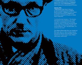 William S Burroughs Free Jazz Quintet Concert Poster Print Great 20th Century Writer Literary Print