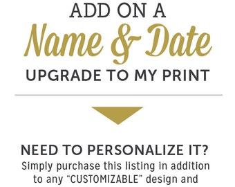 UPGRADE - Personalization