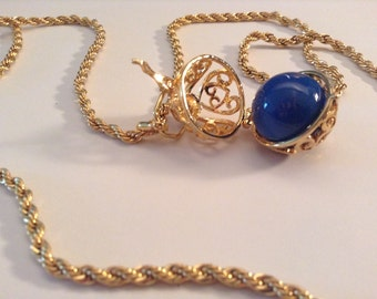 GF Angel Caller Necklace with Blue Ball (Chain Sold Separately)