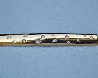 Hattie Carnegie Rhinestone Bar Pin Vintage