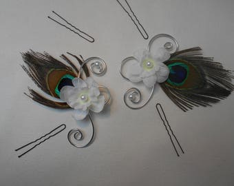 Peacock feathers Bridal
