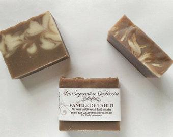 Savon à la vanille, Savon artisanal fait main 100% naturel, Vanilla Soap, Cold process All Natural Handmade Soap
