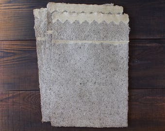 Handmade paper sheets - A4 - Decorative paper - Lace paper - Textured paper - Art paper - Eco friendly - Writing paper - Letter Paper(#29lb)