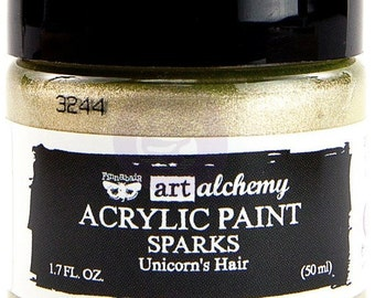 Finnabair Art Alchemy SPARKS Prima Acrylic Paint 1.7 oz UNICORN'S HAIR 964061