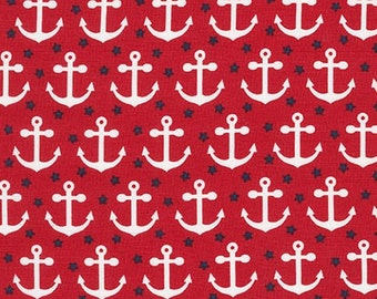 Fabulous Foxes by Andie Hanna, Sailor Anchors on red, yard