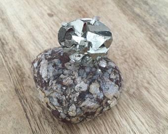 Stunning Pyrite Sterling Ring