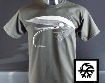 T-shirt fly fishing fishing fly fly casting by Waveslide