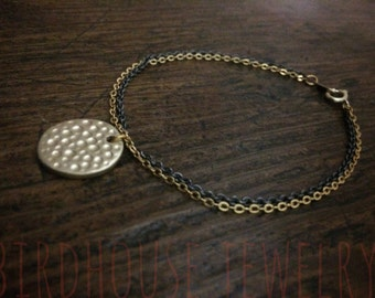 Cage à oiseau bijou - Bracelet disque d'or