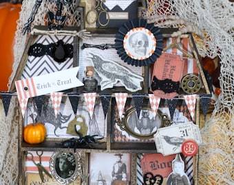 Mix Media Halloween Decoration