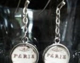 """Paris Earrings.Vintage """"Paris"""" meets Modern Chic. Handmade in Brooklyn."""