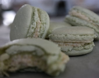 key lime macarons, salted caramel macarons, authentic french macarons, gourmet macarons