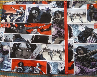 lunch placemat compartment 'walking dead' placemat