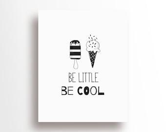 Nursery Baby Room Decoration- Monochrome / Scandinavian - Be Little Be Cool