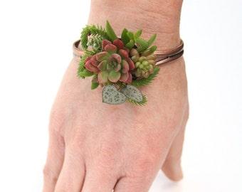 Woodland Succulent Botanical Bracelet
