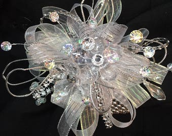 Crystal Wrist Corsage and Boutonniere