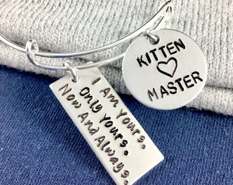 Owned bracelet submissive bracelet, Owned by property of daddy, Daddys property master slave jewelry, Master slave bracelet, Master Kitten
