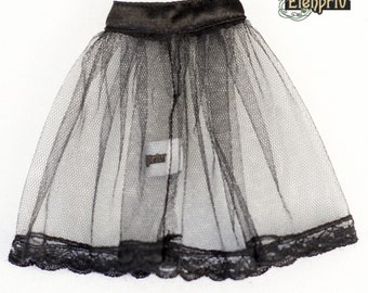 ELENPRIV black tulle underskirt with lace for Fashion royalty FR2 and similar body size dolls.