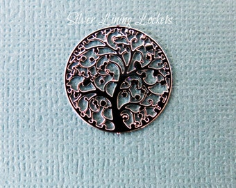 Silver Family Tree And/Or Butterfly Window Plate For Large 30mm Glass Memory Lockets Buy 2 and SAVE!