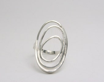 Silver Ring - Modern - Funky