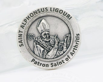 Pocket Tokens, St Alphonsus Ligouri,  Patron Saint of Arthritis, Healing Saints, Healing Prayer, Saint Medals, Arthritis, Moral Theologians