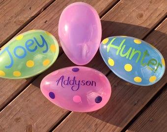 Personalized Eggs;Easter Eggs;Easter Gift;Easter Basket Gift;Custom Easter Egg;Plastic Egg;Jumbo Egg;Custom Egg;Prize Egg;