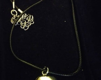 Silver skull leather corded necklace