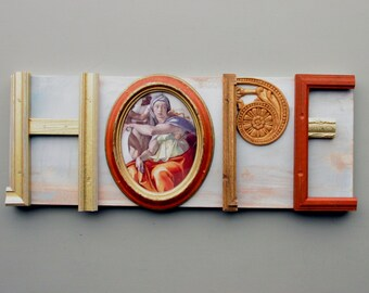 assemblage - wall art - HOPE (Forever)