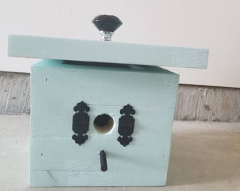 BIRD HOUSE, Functional, turquoise