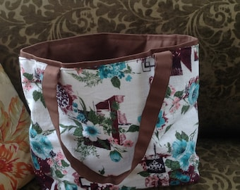 Vintage Barkcloth Bag