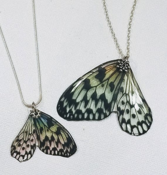 Mother/Daughter Butterfly Wing Necklace