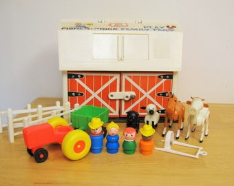 Vintage Fisher Price Barn and Accessories