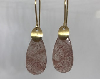Strawberry Quartz Drop Earrings